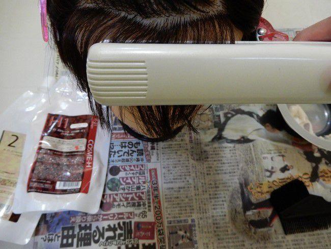 自宅でできる縮毛矯正の簡単なやり方・コツを解説、ストレートアイロンは髪の半分まで