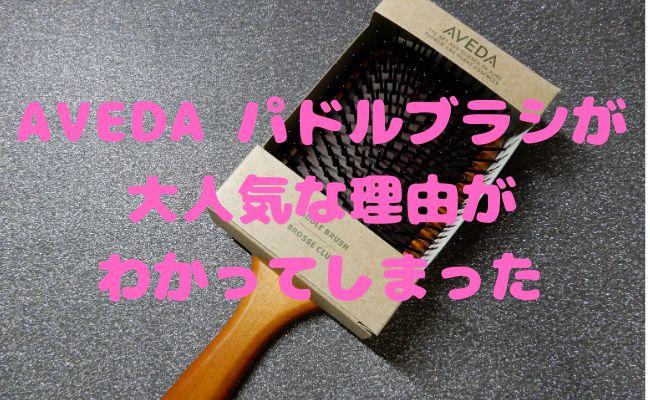 【美容師口コミ】大人気アヴェダ パドルブラシを使ってみた!【使い方・効果・お手入れ方法】