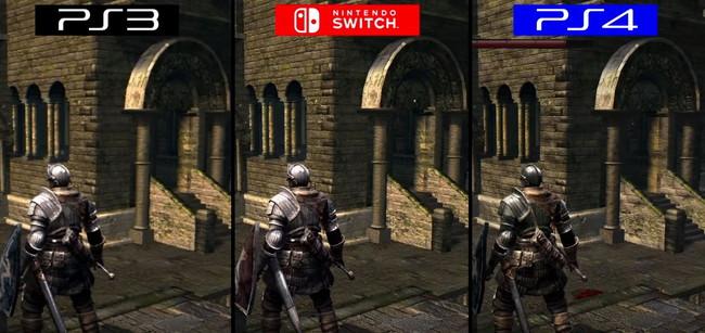 ダークソウルリマスターPS3,PS4,Switchグラフィック比較1