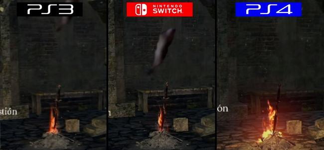 ダークソウルリマスターPS3,PS4,Switchグラフィック比較2