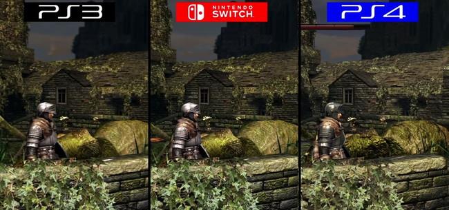 ダークソウルリマスターPS3,PS4,Switchグラフィック比較3