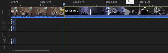 EaseUS Video Editorの基本的な使い方2:画面下のバーに移動させる