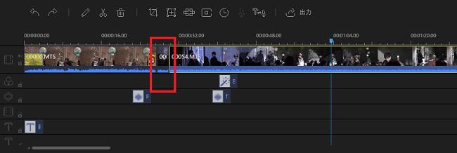 動画を短くしたときはマウスで左右に動かせばOK