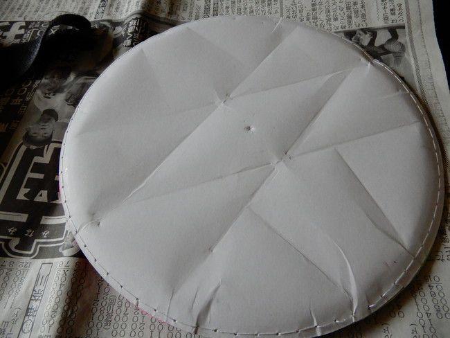 マジックキャッチ(フライング)ボールの裏面は紙