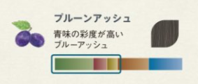 プルーンアッシュのカラーチャート