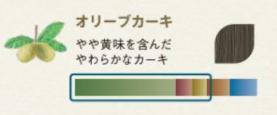 オリーブカーキのカラーチャート