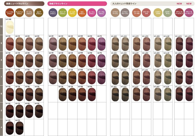 オルディーブ ボーテのカラーチャート