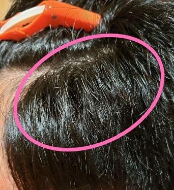 オルディーブ ボーテで白髪染めをした後の写真