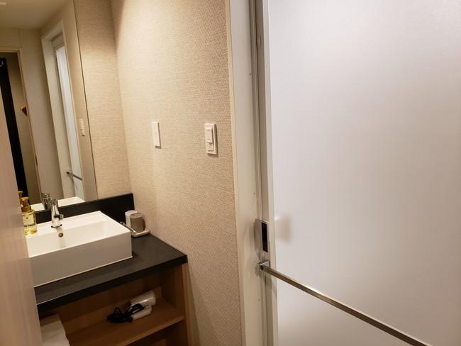 変なホテルのツインルーム、洗面台