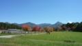 09.10.11この日は良く晴れた。左→天狗岳、硫黄岳、横岳、阿弥陀岳。