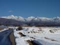 同じく芹ヶ沢から望遠で 左から天狗岳、硫黄岳、横岳、阿弥陀岳