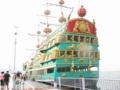 ロープウェイで桃源台に到着 芦ノ湖の海賊船に乗った