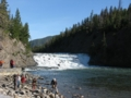 マリリン・モンロー主演の「帰らざる河」のロケに使われたボウ滝