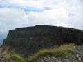 硫黄岳から横岳へ続く稜線 下には爆裂壁が・・