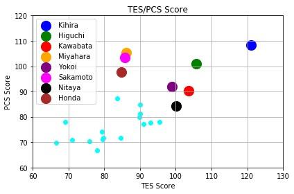 全日本選手権19女子シングルTESPCE
