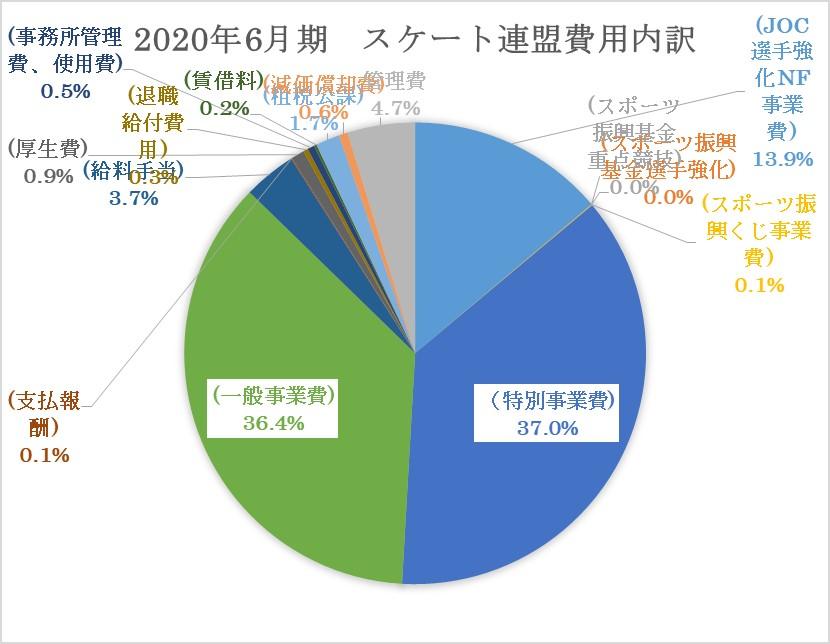 2020年6月期日本スケート連盟費用内訳