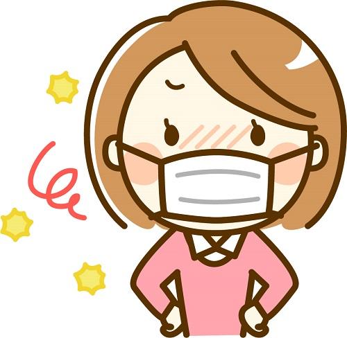 生理の日はマスクをしてストレス軽減!