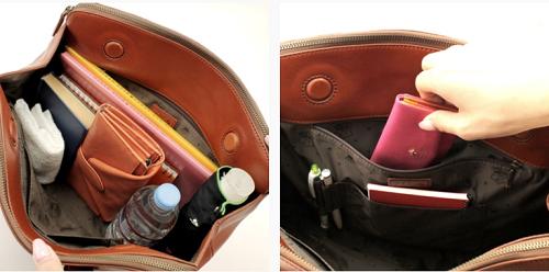 Dacotaのバッグは出し入れしやすく収納力もあり