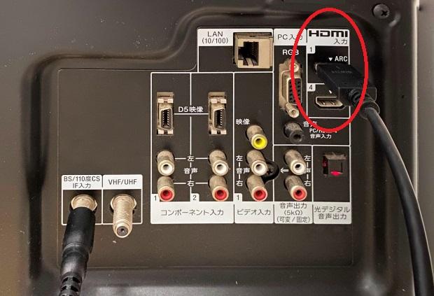 Fire TV Stickをテレビに挿入するにはHDMI端子が必要