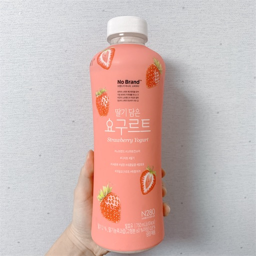韓国のいちごヨーグルト