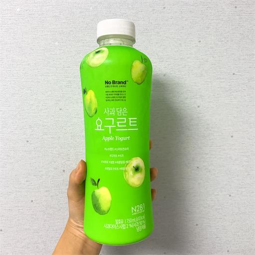 韓国のりんごヨーグルト