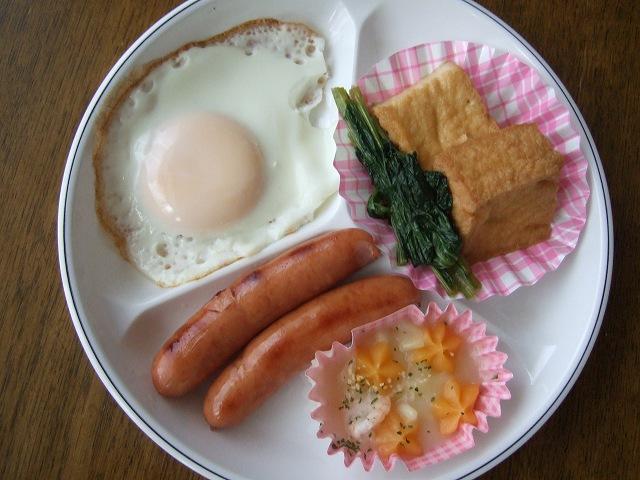 夏休みのある日の昼食のおかず