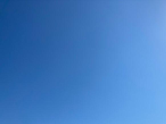 雲ひとつ無い良いお天気