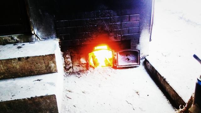 薪で焚くお風呂