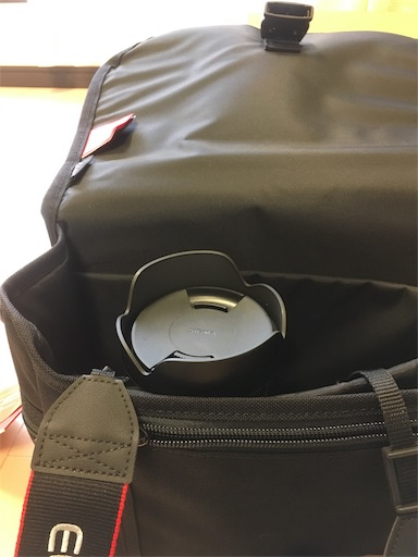 マンハッタンポーテージ のカメラバッグにカメラを入れたところ