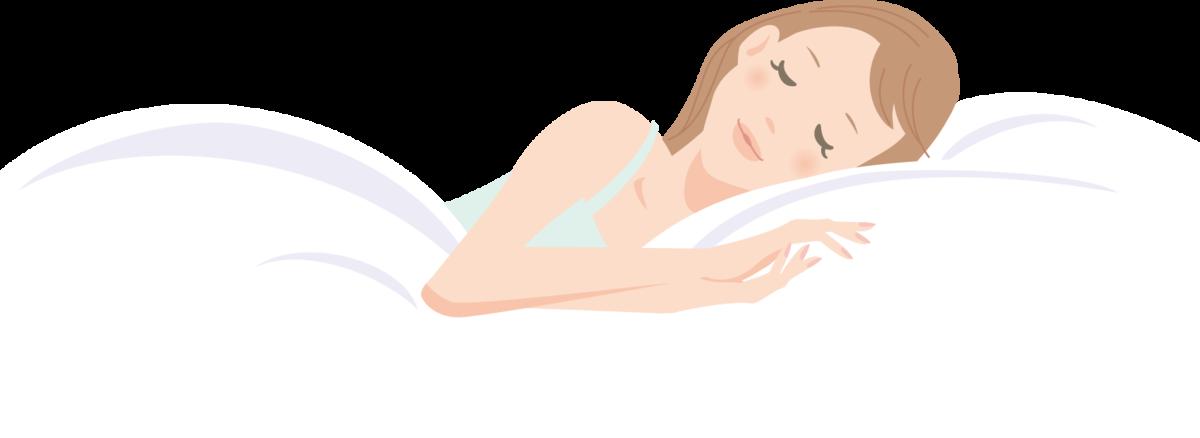 睡眠障害にならないために質の良い睡眠を取っている女性2