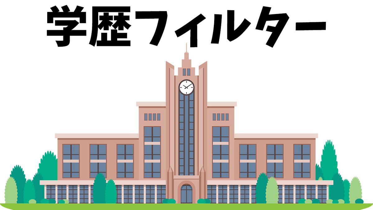 学歴フィルター大学