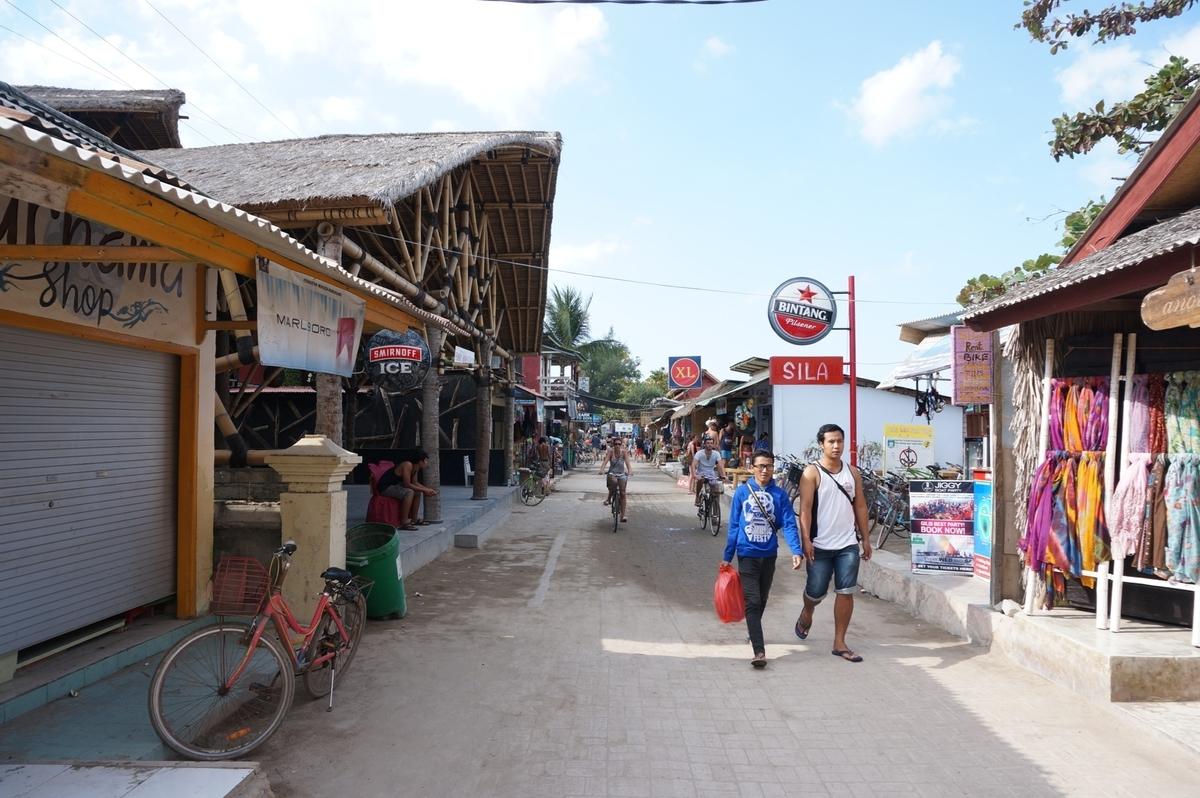 観光地として発展を遂げるギリ・トラワンガン