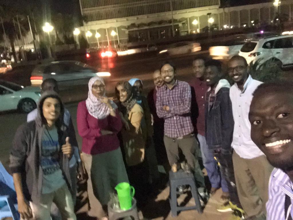 スーダンでは地元民の集まりに参加させてもらう機会が多かった