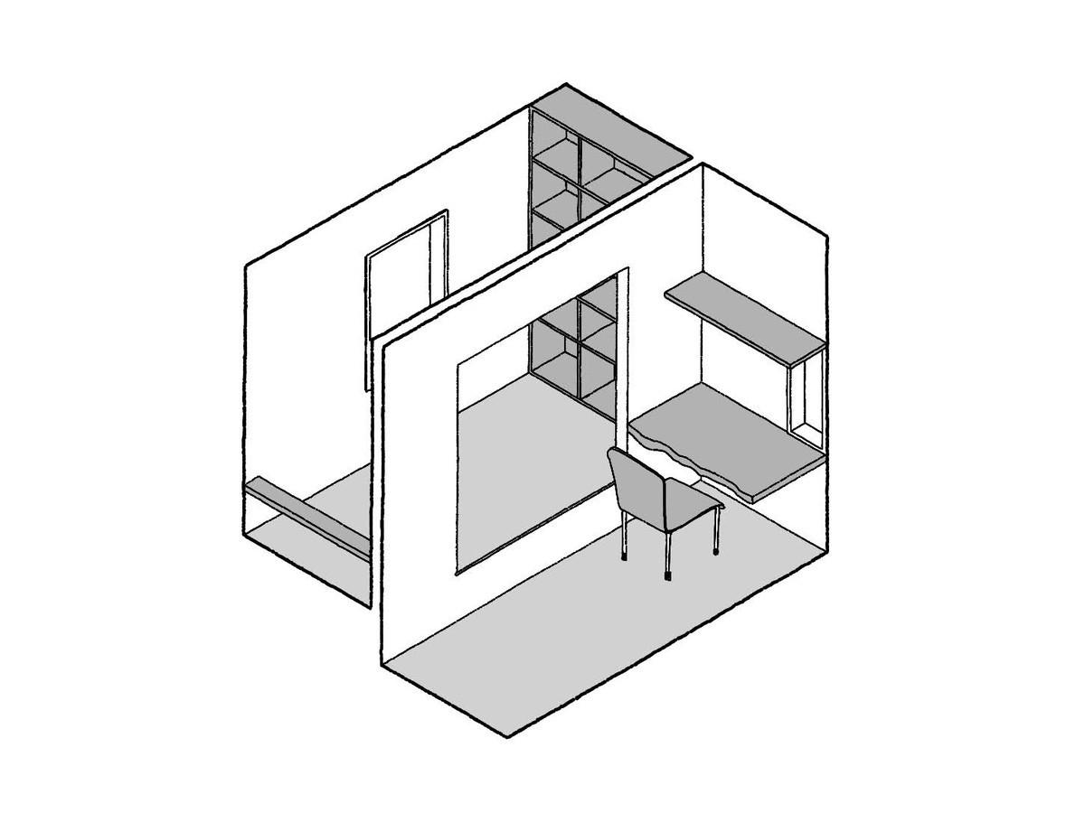 小上がり付きの寝室3.75畳