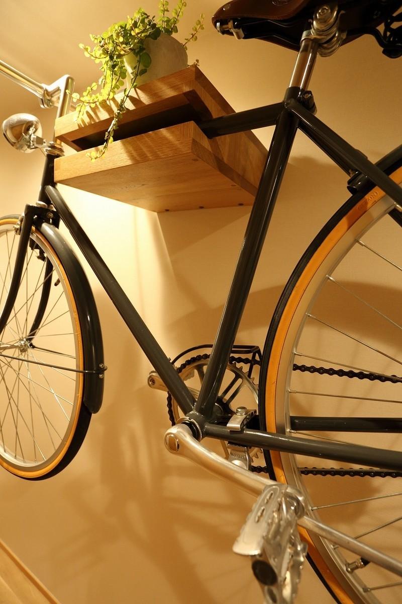 自転車壁掛けボックス