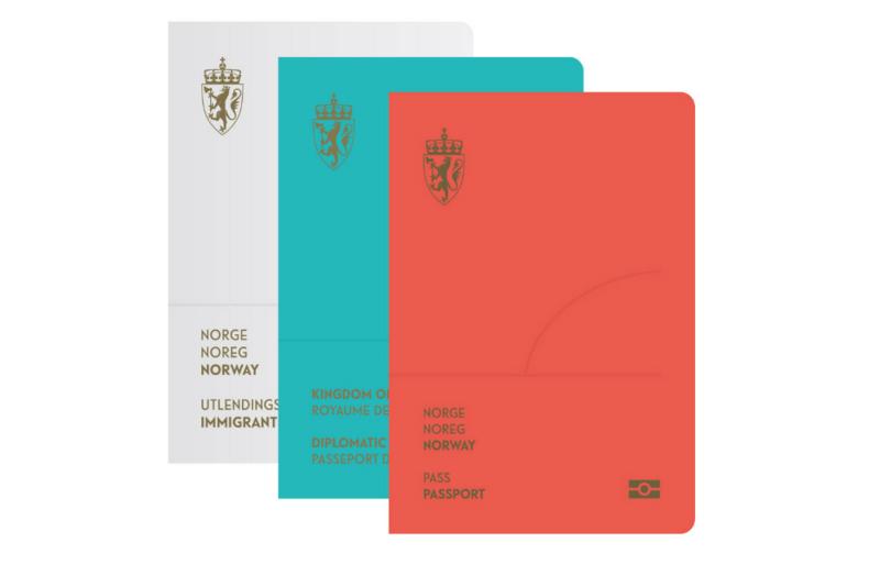 ノルウェー パスポート デザイン