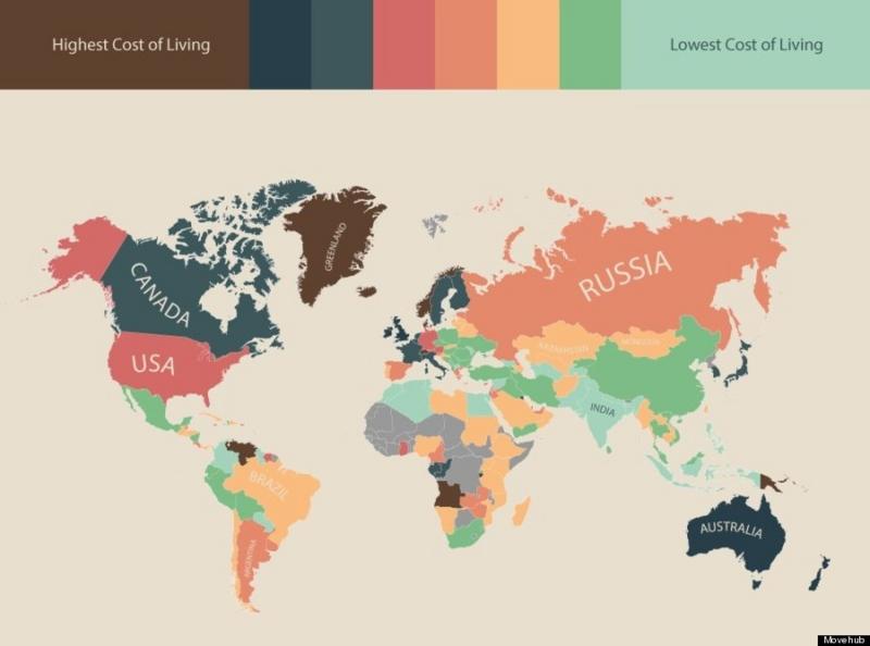 物価 地図 世界