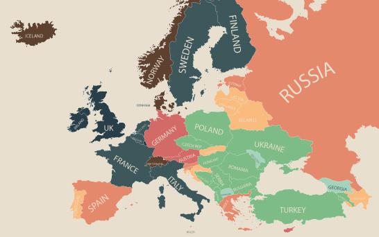 物価 ヨーロッパ 地図