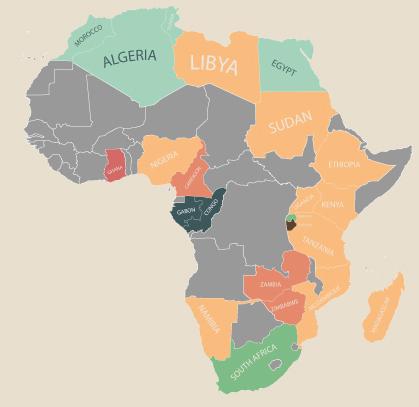 物価 アフリカ 地図