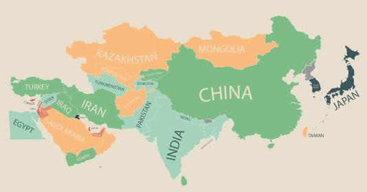 物価 アジア 地図