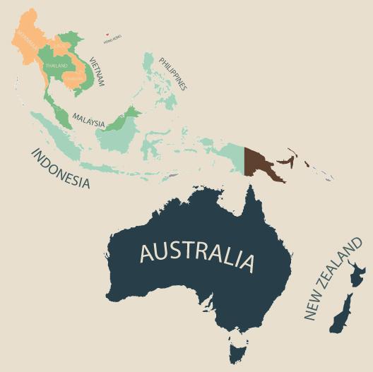 物価 オセアニア 地図
