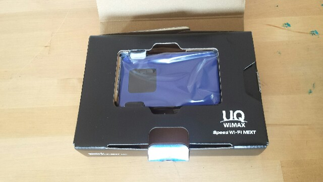 WiMAX WX01 開封 ディープブルー