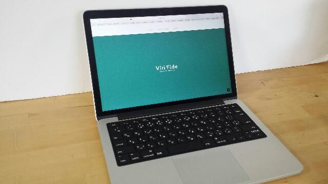 Macbook用キーボードカバー 装着