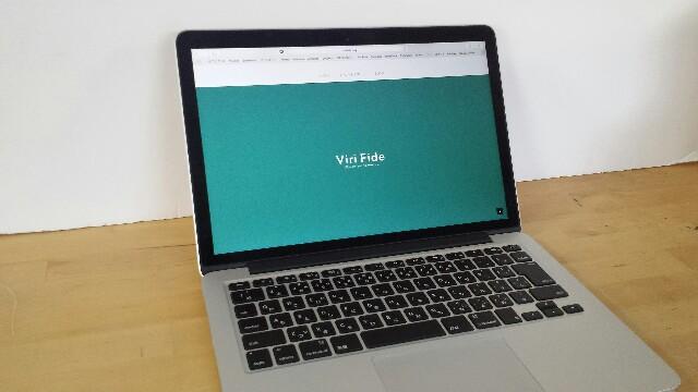 Macbook用キーボードカバー 装着前