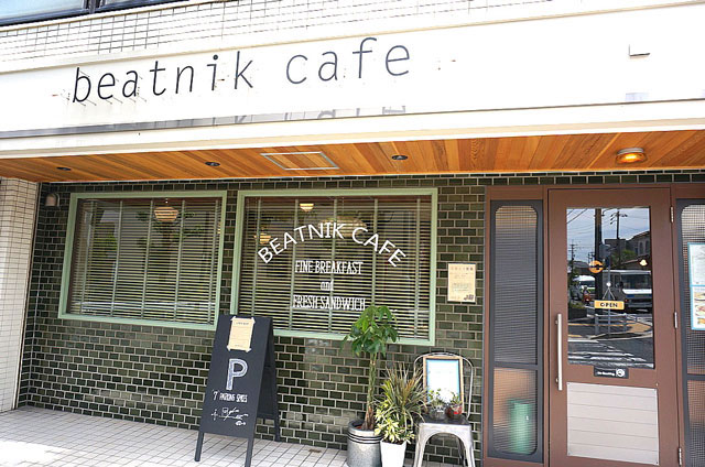beatnik カフェ 入口