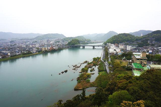 犬山城 天守閣からの景色 写真