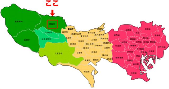 青梅市 奥多摩 地図