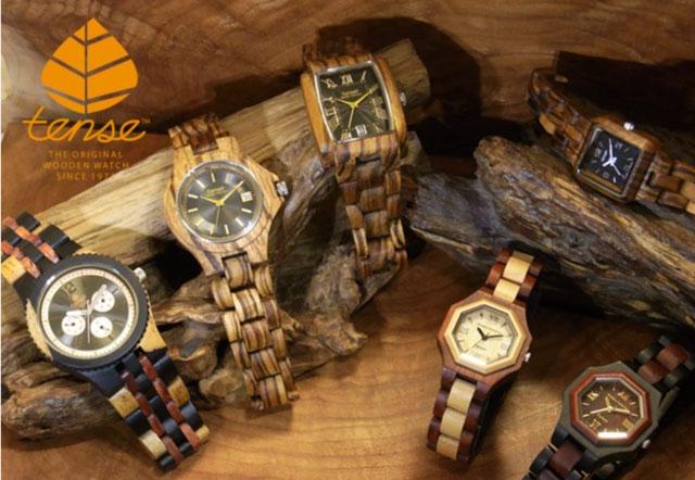 tense テンス 木製腕時計 画像