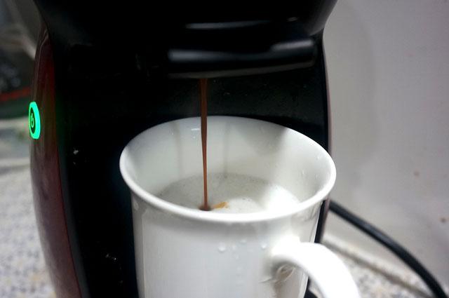 ネスカフェ ドルチェグスト コーヒー 作り方 写真
