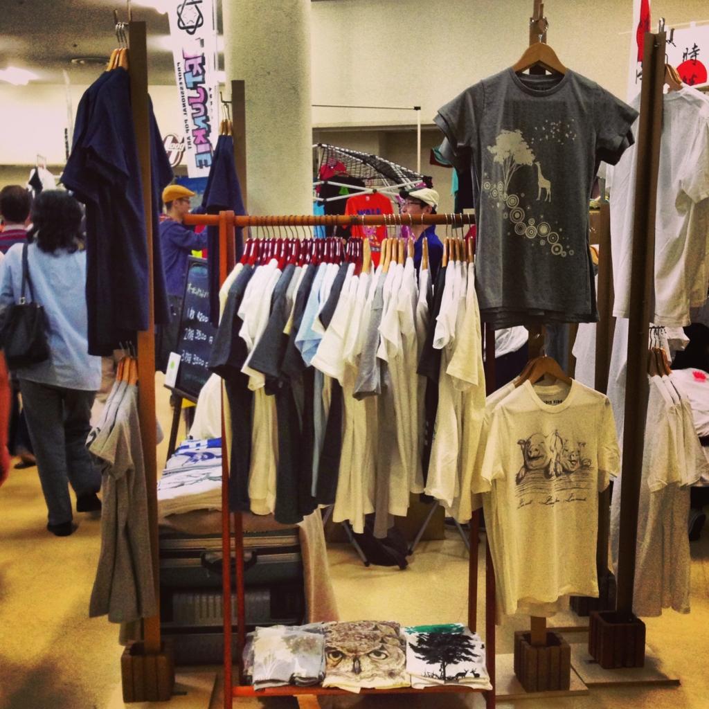 ラブサミ Tシャツ ディスプレイ 初出店